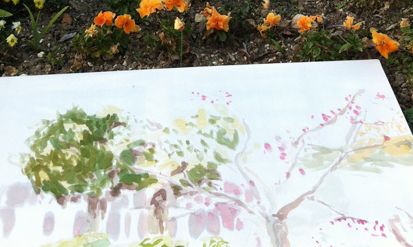 Workshop: Painting on silk in the gardens
