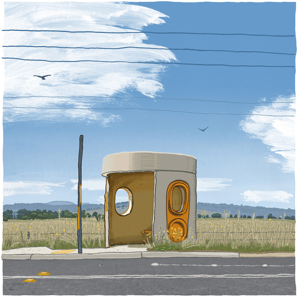 Trevor Dickinson's beautiful bus shelters of Canberra
