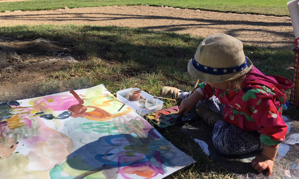Toddler Workshops: Playing with art in the garden