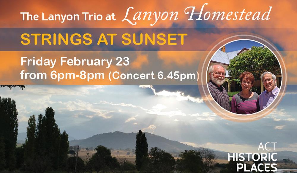 Strings at Sunset - The Lanyon Trio at Lanyon Homestead
